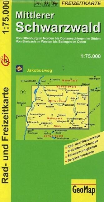 Mittlerer Schwarzwald 1 : 75 000 als Buch