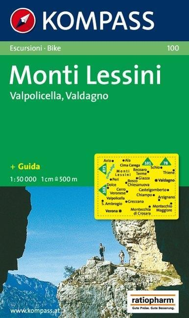 Monti Lessini, Valpolicella, Valdagno 1 : 50 000 als Buch