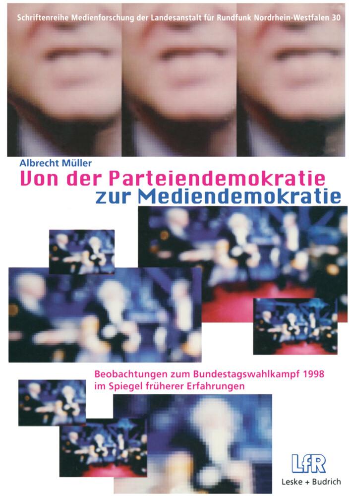 Von der Parteiendemokratie zur Mediendemokratie als Buch