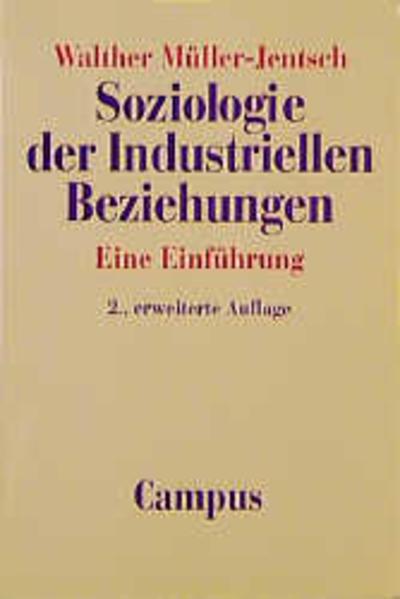 Soziologie der Industriellen Beziehungen als Buch
