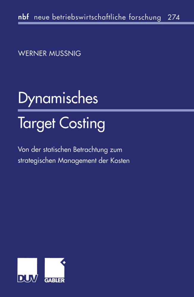 Dynamisches Target Costing als Buch