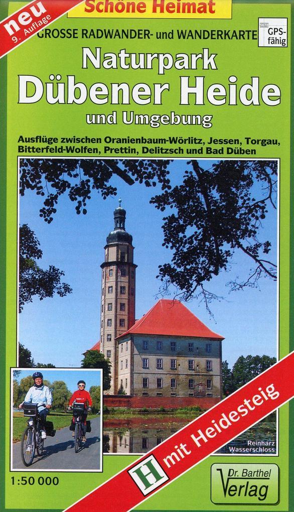 Radwander- und Wanderkarte Naturpark Dübener Heide und Umgebung 1 : 50 000 als Buch