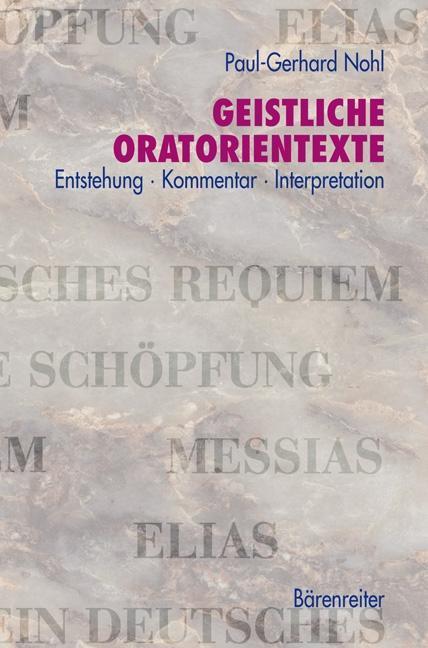 Geistliche Oratorienwerke als Buch