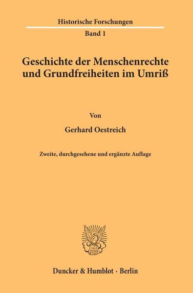 Geschichte der Menschenrechte und Grundfreiheiten im Umriß als Buch