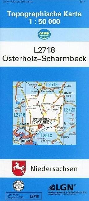 Osterholz-Scharmbeck 1 : 50 000. (L2718) als Buch