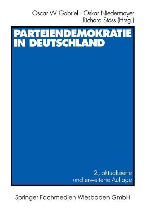 Parteiendemokratie in Deutschland als Buch