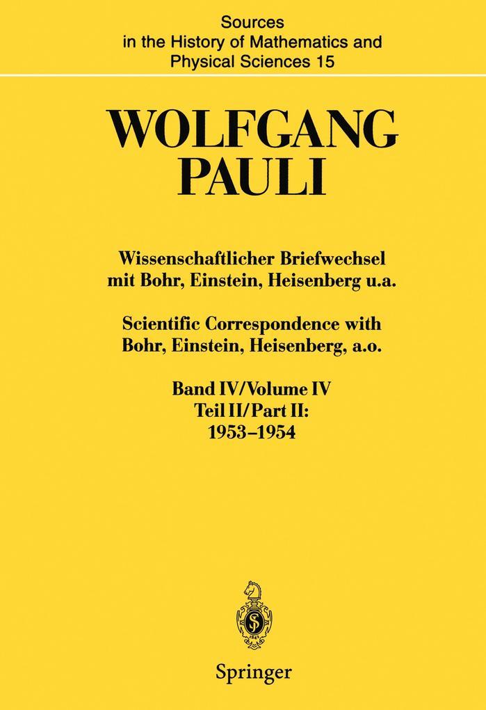 Wissenschaftlicher Briefwechsel mit Bohr, Einstein, Heisenberg u.a. / Scientific Correspondence with Bohr, Einstein, Heisenberg a.o. als Buch