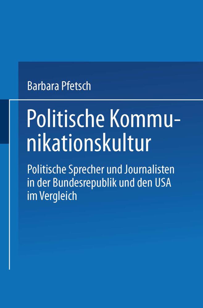 Politische Kommunikationskultur als Buch