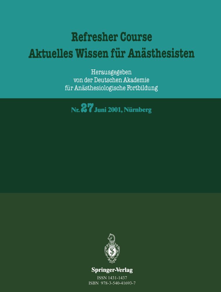 Refresher Course. Aktuelles Wissen für Anästhesisten als Buch