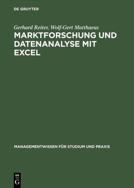 Marktforschung und Datenanalyse mit EXCEL als Buch