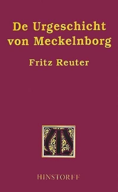 De Urgeschicht von Meckelnborg als Buch