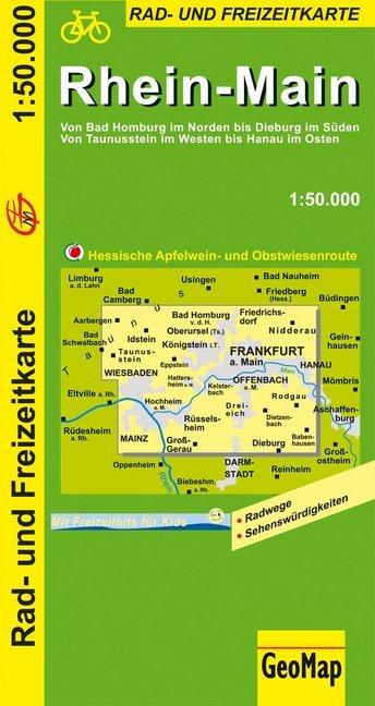 Rhein-Main 1 : 50 000. Radkarte als Buch