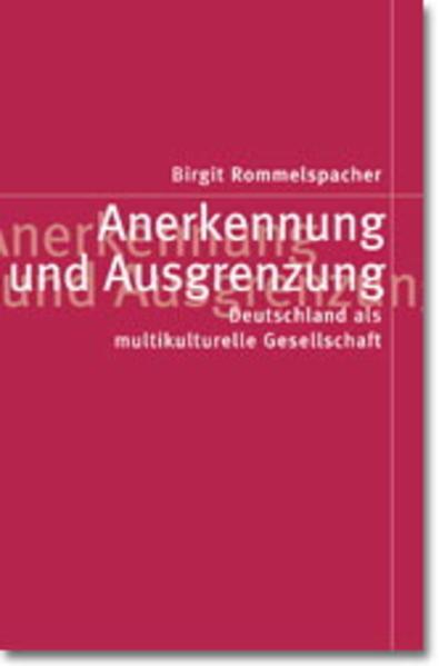 Anerkennung und Ausgrenzung als Buch