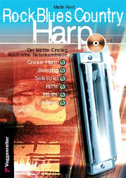 Rock Blues Country Harp. Mit CD als Buch