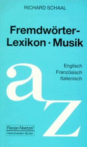 Fremdwörterlexikon Musik als Buch