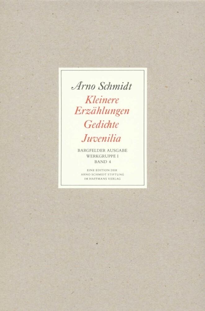 Bargfelder Ausgabe. Standardausgabe. Werkgruppe 1, Band 4 als Buch