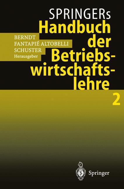Springers Handbuch der Betriebswirtschaftslehre 2 als Buch