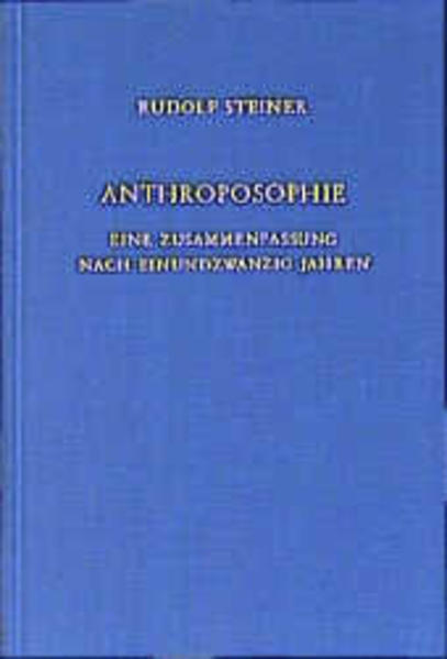 Anthroposophie als Buch