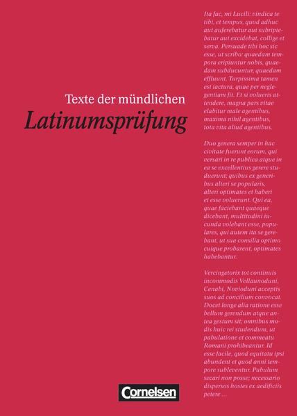 Texte der mündlichen Latinumsprüfung als Buch