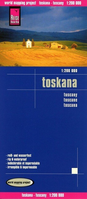 Reise Know-How Landkarte Toscana, Tuscany (1:200.000) als Buch