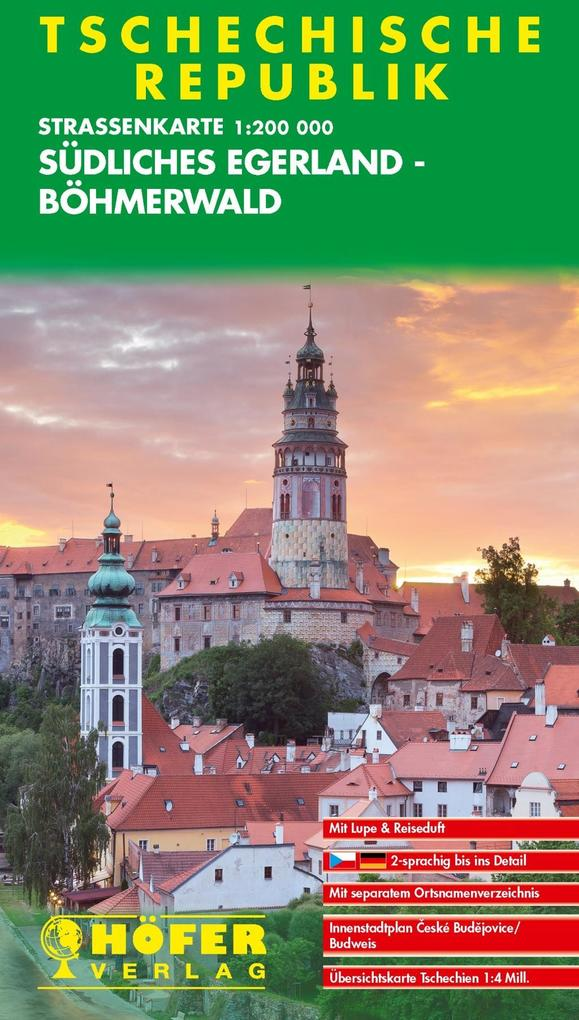 Höfer Tschechische Republik. CS004. Südliches Egerland 1 : 200 000. Straßenkarte als Buch