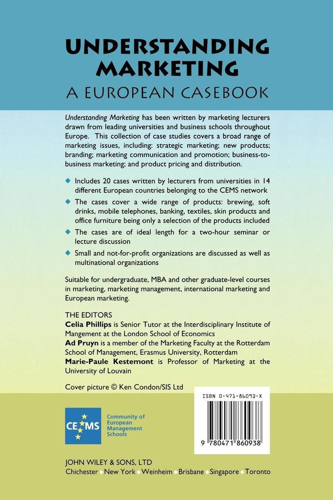 Understanding Marketing: A European Casebook als Buch