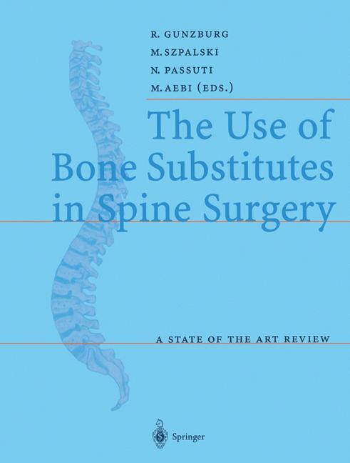 The Use of Bone Substitutes in Spine Surgery als Buch