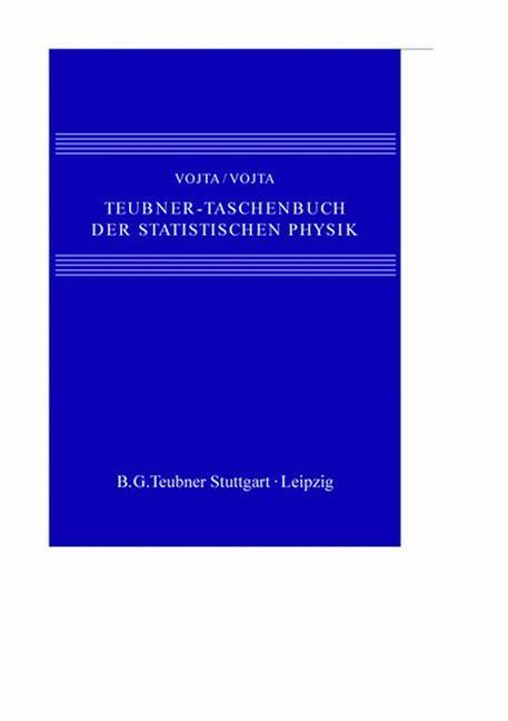 Teubner-Taschenbuch der statistischen Physik als Buch