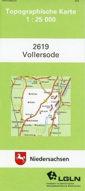 Vollersode 1 : 25 000 als Buch