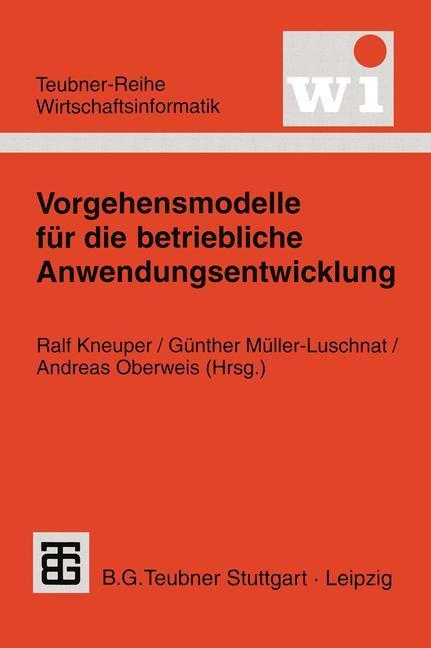 Vorgehensmodelle für die betriebliche Anwendungsentwicklung als Buch