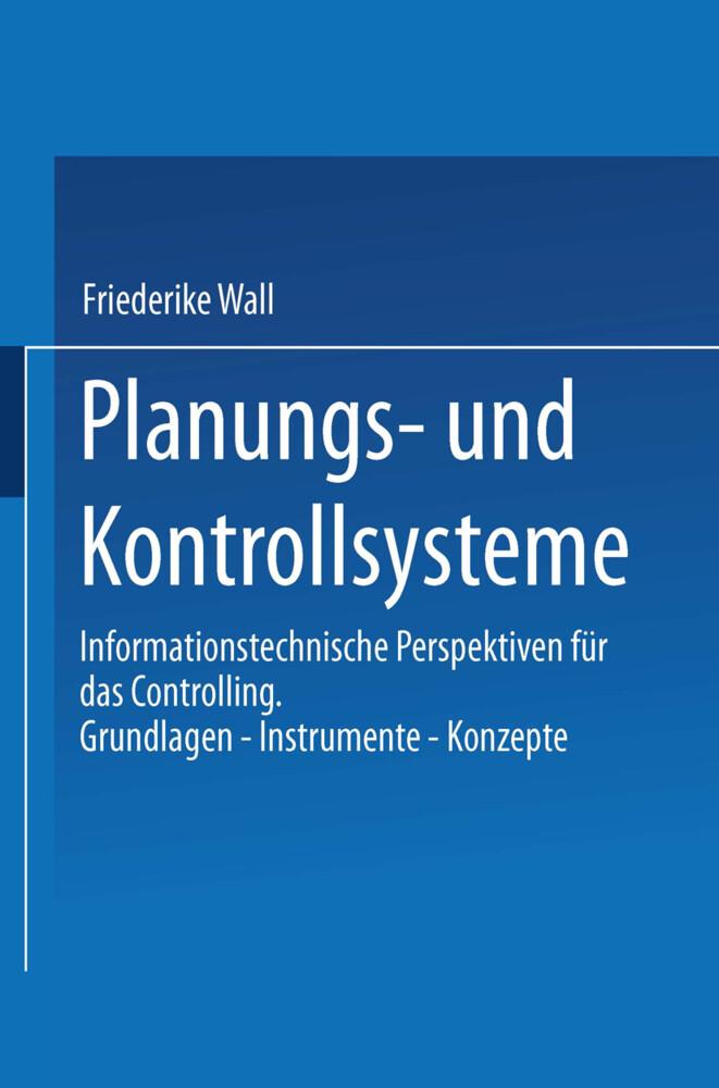 Planungs- und Kontrollsysteme als Buch
