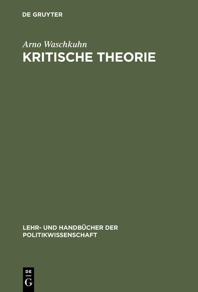 Kritische Theorie als Buch