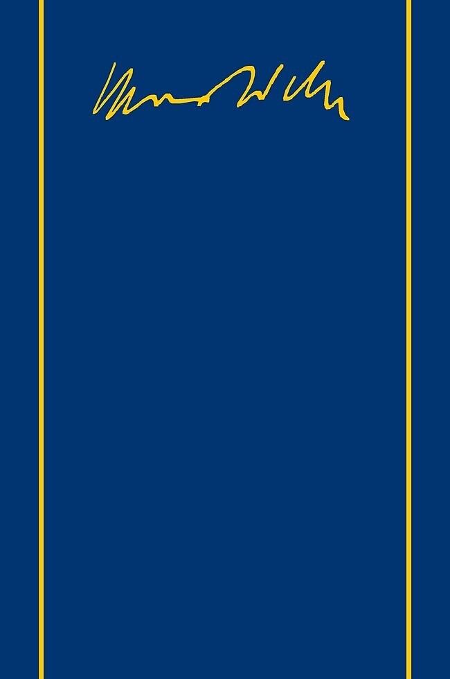 Max Weber-Gesamtausgabe als Buch