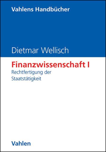 Finanzwissenschaft 1 als Buch