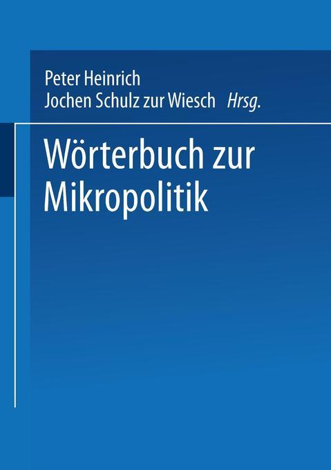 Wörterbuch zur Mikropolitik als Buch