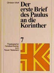 Der erste Brief des Paulus an die Korinther als Buch