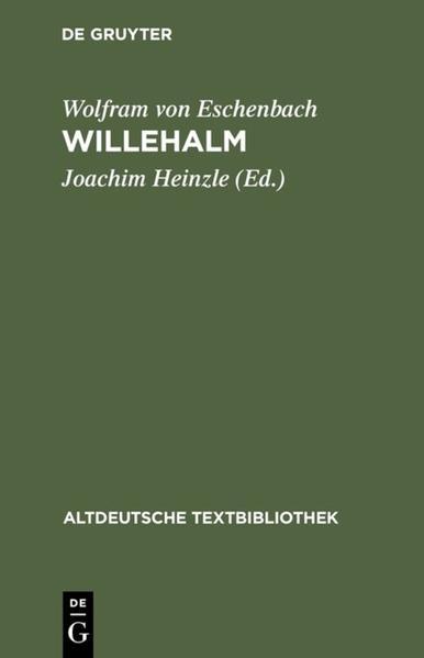 Willehalm als Buch