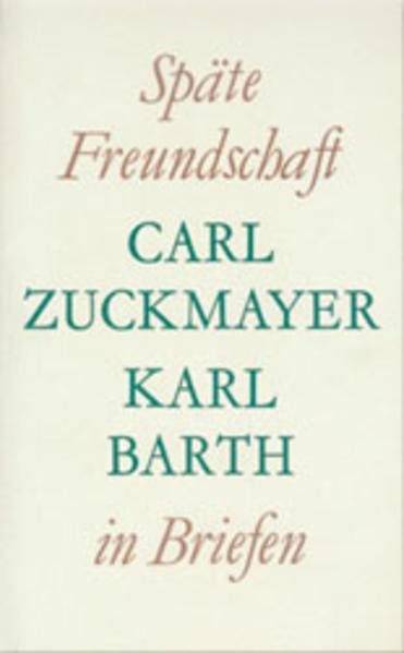 Späte Freundschaft in Briefen als Buch