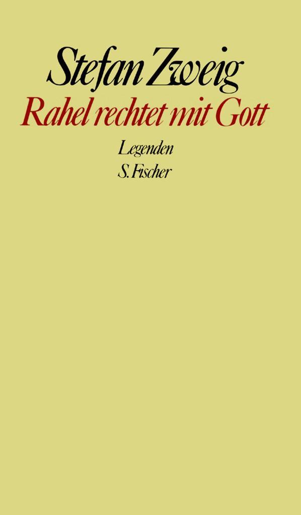 Rahel rechtet mit Gott als Buch