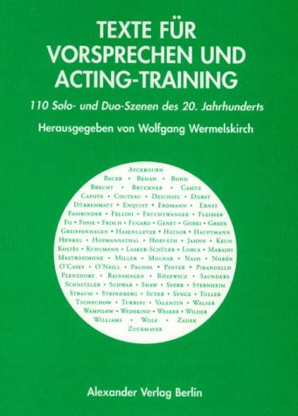 Texte für Vorsprechen und Acting-Training als Buch