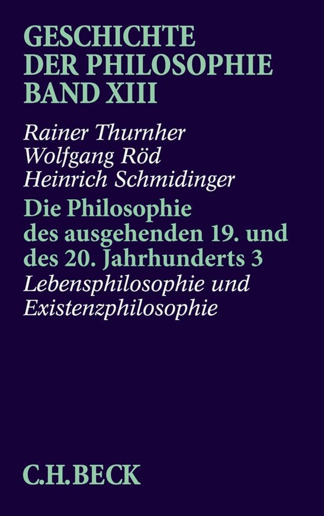 Die Philosophie des ausgehenden 19. und des 20. Jahrhunderts 3 als Buch