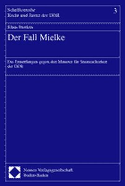 Der Fall Mielke als Buch