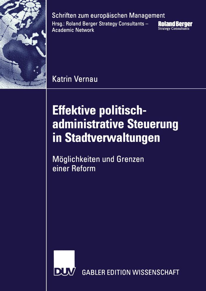 Effektive politisch-administrative Steuerung in Stadtverwaltungen als Buch