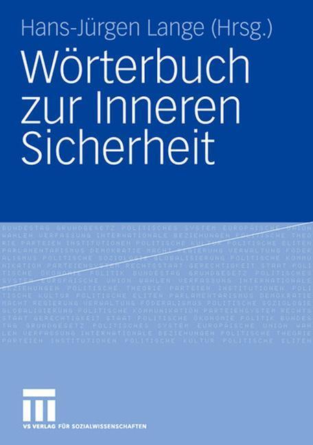 Wörterbuch zur Inneren Sicherheit als Buch