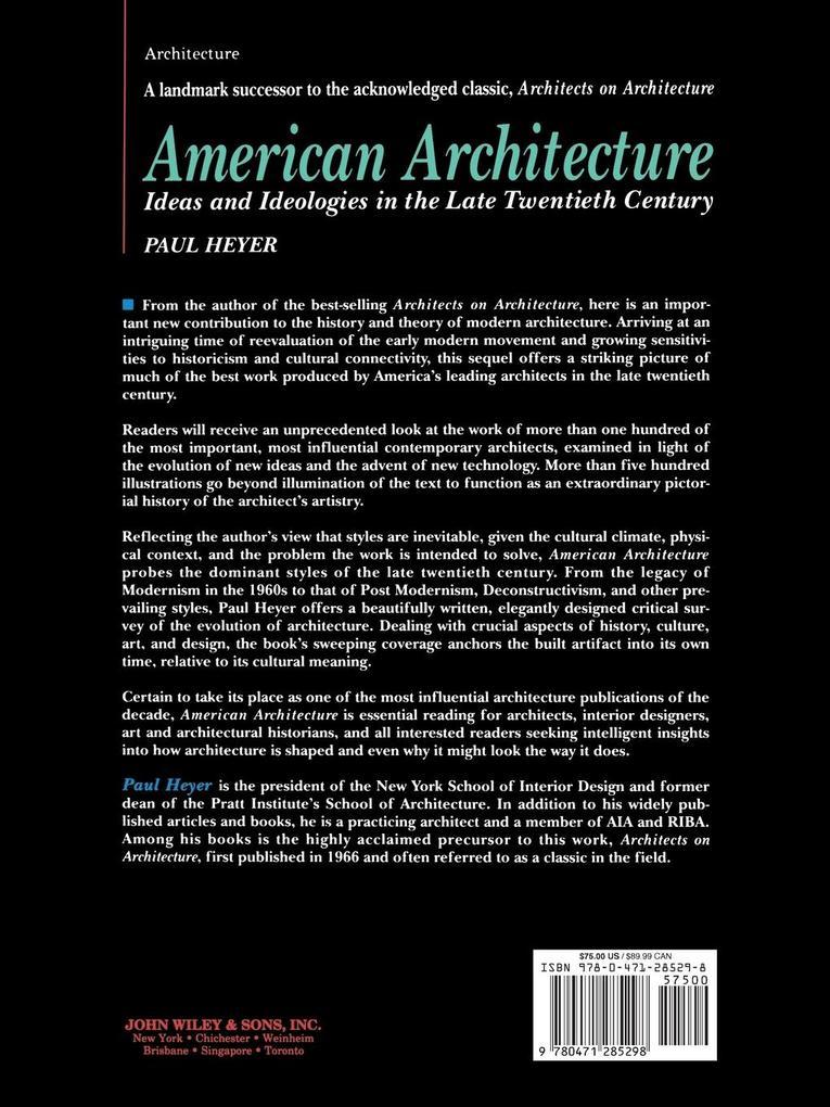 American Architecture: Ideas and Ideologies in the Late Twentieth Century als Taschenbuch