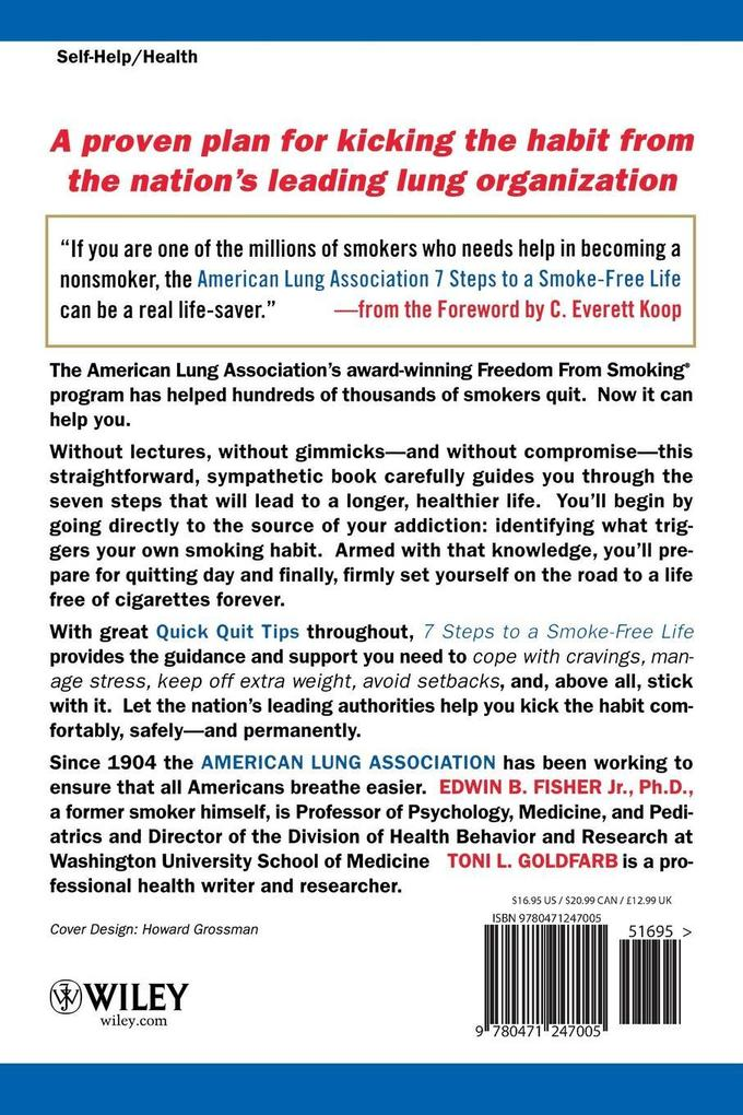 American Lung Association 7 Steps to a Smoke-Free Life als Taschenbuch