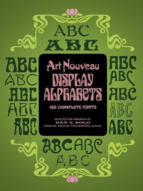 Art Nouveau Display Alphabets als Taschenbuch