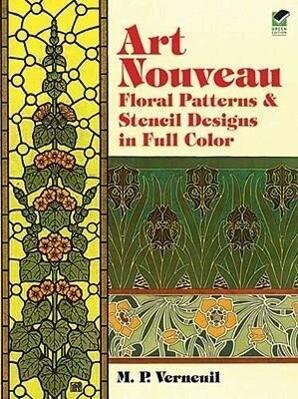 Art Nouveau Floral Patterns and Stencil Designs in Full Color als Taschenbuch
