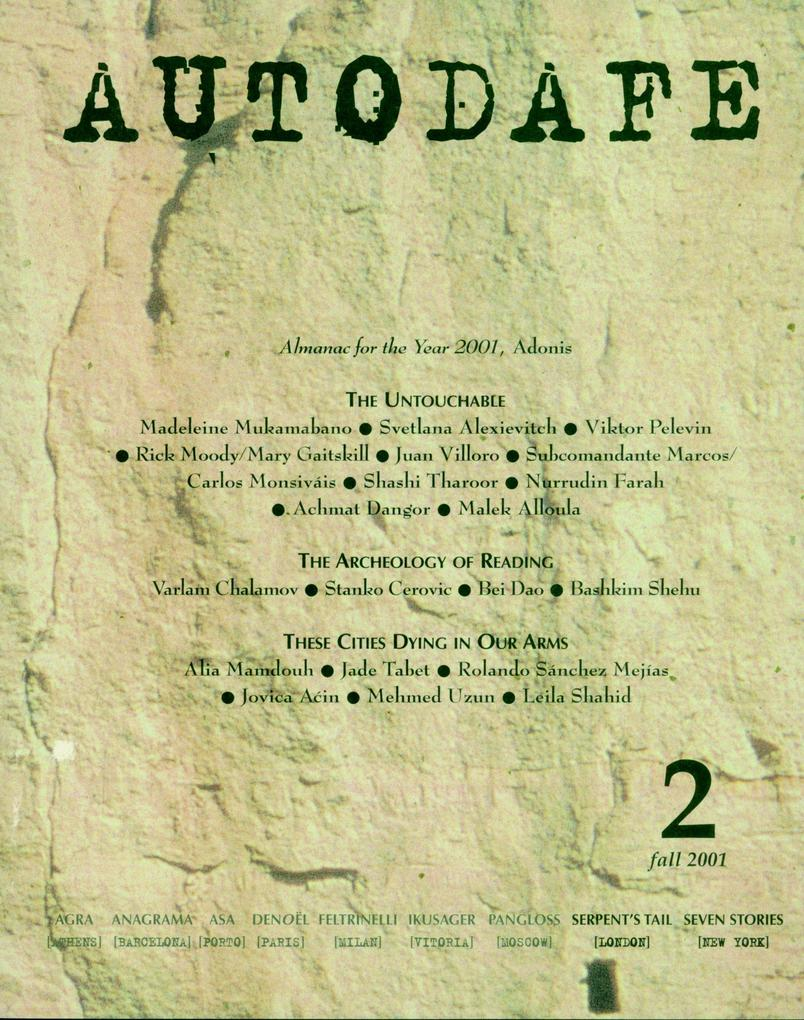 Autodafe 2: The Journal of the International Parliament of Writers als Taschenbuch
