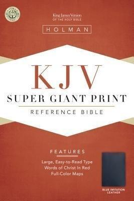 Super Giant Print Reference Bible-KJV als Buch